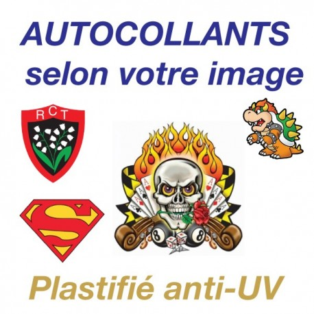 Autocollant vinyle Plastifié brillant Anti-UV