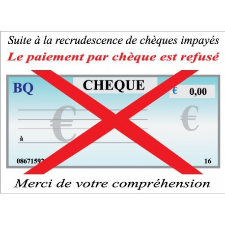 Chèque refusé