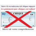Chèque refusé 18x13cm