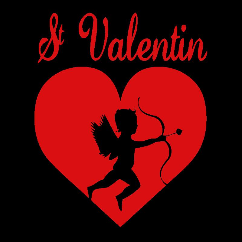 Coeur Cupidon St Valentin