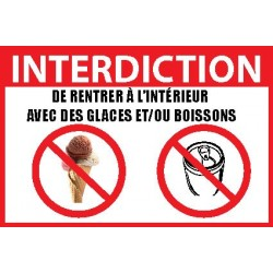INTERDICTION GLACES ET BOISSONS