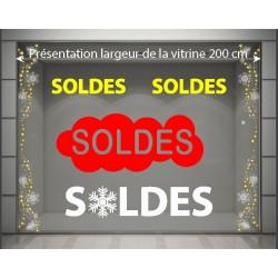 Kit décoration vitrine Soldes