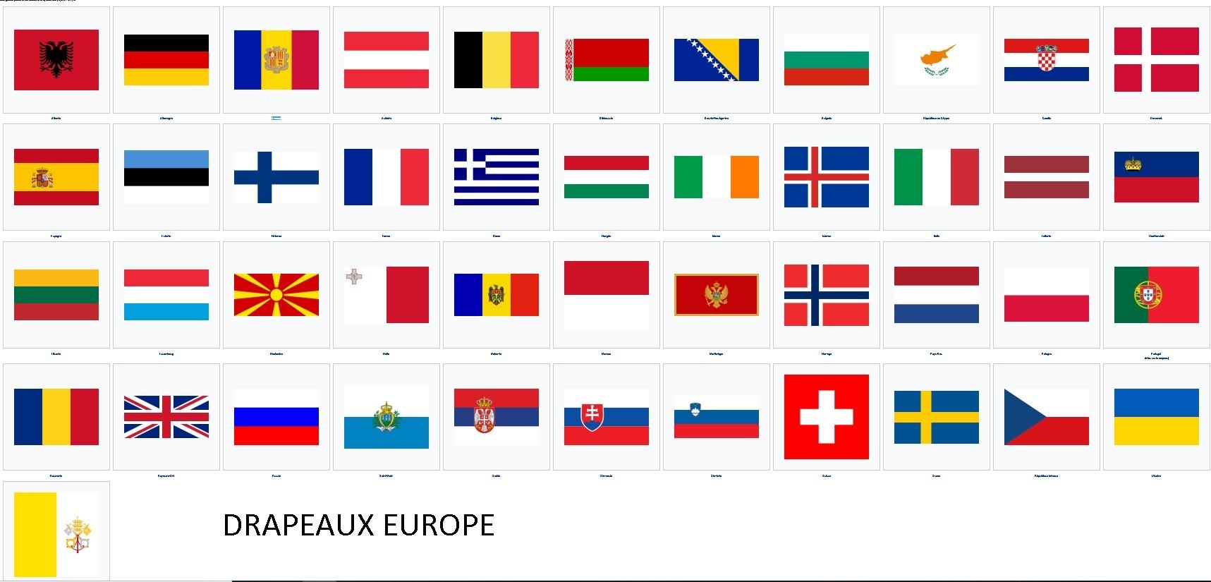 Autocollants Des Drapeaux D Europe