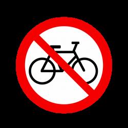 Interdit aux vélos