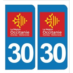 PLAQUE IMMATRICULATION - 30 - GARD - OCCITANIE