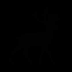 Sticker d'un cerf vu de côté