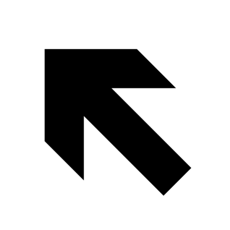 Flèche Haut Gauche